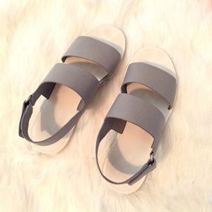 Vince Sorce Women's Flats Strappy Sandals Grey